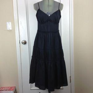 LOFT | Black Tiered Sleeveless Dress